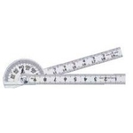 Protractor Mini Silver φ40 (Diameter 40 mm) Rod Gradations 10 cm