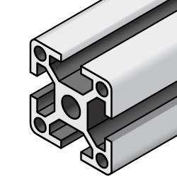 Aluminum Extrusions 8-45 Series, Four-Side Slots