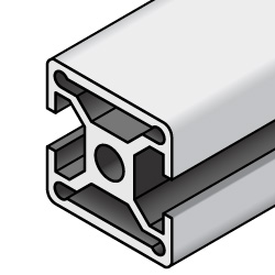 HFS8-45 Series -Aluminum Extrusions 45mm Square- -2 Slot-