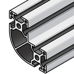 Aluminum Extrusions 8-45 Series, L Shape with Corner Radius