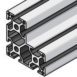 Aluminum Extrusions 8-45 Series L Shape with Milled Surface