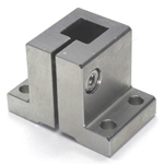 Stainless Steel Square/Round Pipe Joint, Vertical Square
