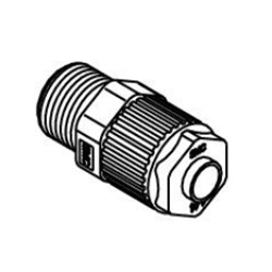 Male Connector LQ1H-M Metric Size Fluoropolymer Fittings / Hyper Fittings