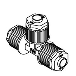 Union Tee LQ1T Inch Size Fluoropolymer Fittings / Hyper Fittings