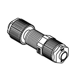 Panel Mount Union LQ1P Metric Size Fluoropolymer Fittings / Hyper Fittings