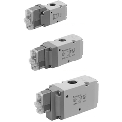 3-Port Solenoid Valve, Pilot Operated Poppet Type, Rubber Seal, Body Ported, Single Unit VP300/500/700 Series