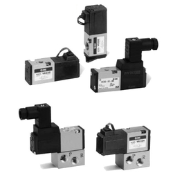 3-Port Solenoid Valve, Direct Operated Poppet Type, Rubber Seal, VK300 Series