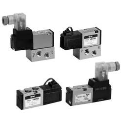 5-Port Solenoid Valve, Direct Operated Poppet Type, Rubber Seal, VK3000 Series