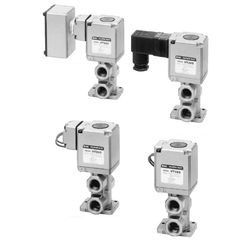 3-Port Solenoid Valve, Direct Operated Poppet Type, Rubber Seal, VT325 Series