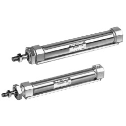 CM2□P Series Air Cylinder, Centralized Piping Type, Double Acting, Single Rod