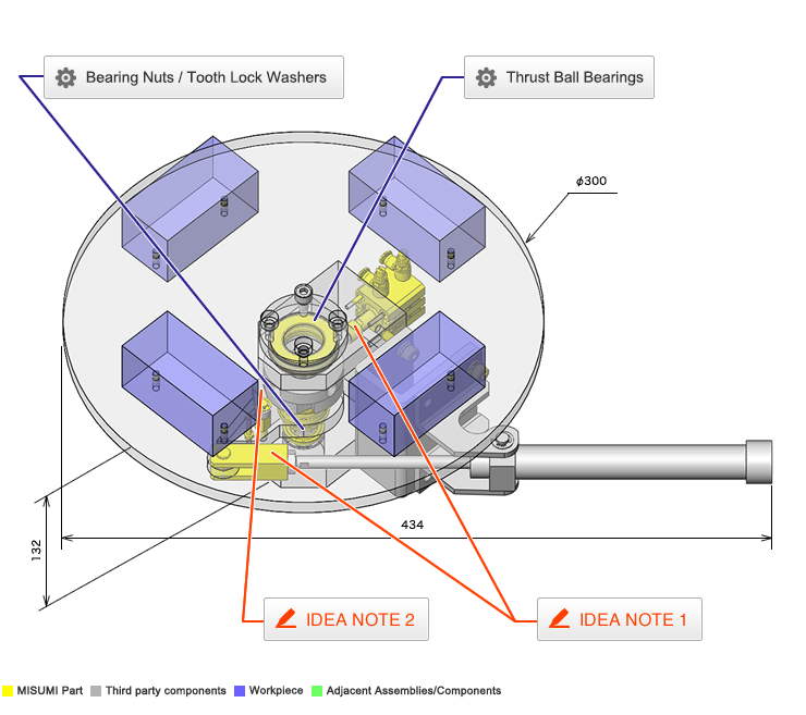 air cylinder schematic no 000165 intermittent rotary drive by air cylinder incad  no 000165 intermittent rotary drive by
