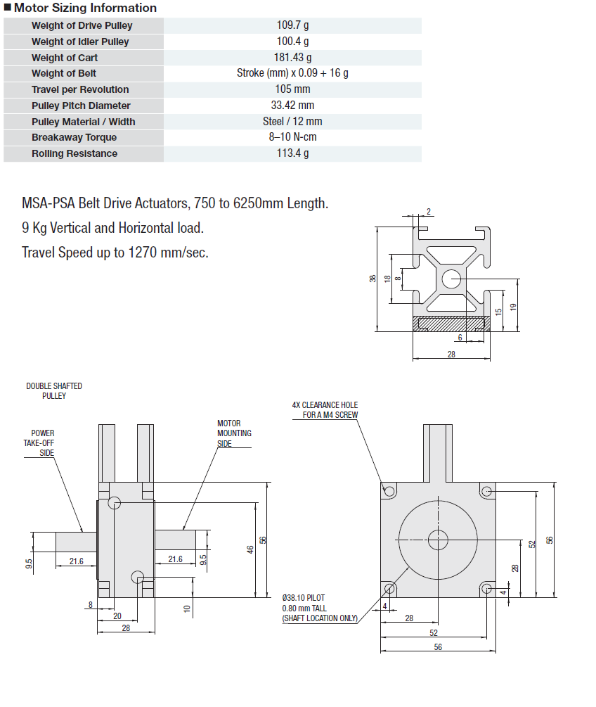 MSA-PSC Belt Drive Actuator:Related Image