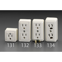 Square type socket-outlet(With Grounding) EA940CG-132