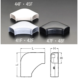 Corner [for Cable Cover Duct] EA947HM-45F