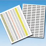 Tab Tag Label, Tag Labels for Laser Printers (made of Polyester Film)