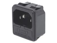 IEC Standard, Inlet with Fuse Holder (Snap-In)/C14