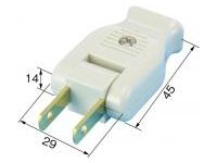 Extension Cord Parts, Swing Plug (Flat 2-Core)