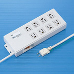 8-Outlet Power Strip with Magnetic Release Prevention