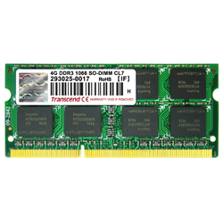 DDR3 204 PIN SO-DIMM Non ECC (1.5 V Standard Product)
