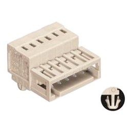 Spring Type Connector, 734 Series, 3.5 mm Pitch, Male Snap Infoot (Hole Stop) Type