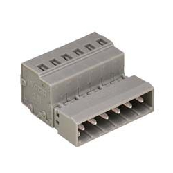 Conector tipo resorte, serie 231, paso de 5 mm, macho
