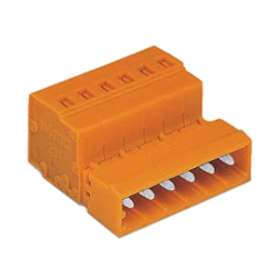 Conector tipo resorte, serie 231, paso de 5.08 mm, macho