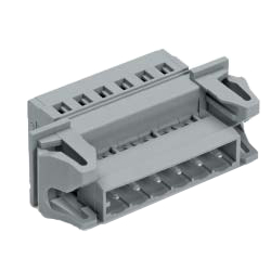 Female Side Can Be Connected to 231-100 with The Male Side of A Spring Type Connector, 231 Series, 5 mm Pitch, and Male Panel Feed-Through