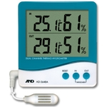 Thermometer and Hygrometer with External Sensors, AD-5648A (Dual Channel)