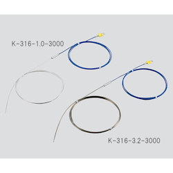 K Sheath Thermocouple (Stainless Steel (SUS316)) 650℃ φ1.0 x 3000mm