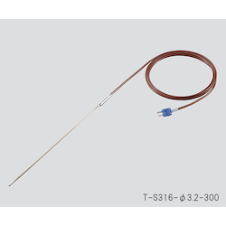T Sheath Thermocouple (Stainless Steel (SUS316)) φ1.6 x 300mm