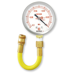 Hose with Vacuum Gauge for Checking Degree of Vacuum for Recycled Cylinders