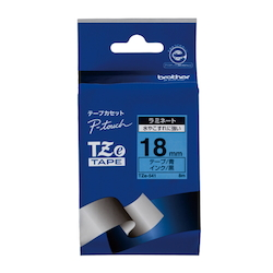 TZe Tape 18 mm Black Letters, Blue