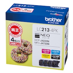 Ink Cartridge 4 Color Pack Type: Genuine LC213-4PK