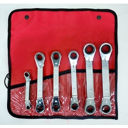 Offset Type Ratchet Ring Wrench Set EA602KB-100