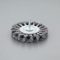 Flat Type Wire Wheel Brush with Shaft (6mm Shaft) EA819BM-302
