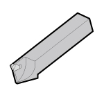 Self Grip (F Cut) Blade for Plunging, Integrated Holder, for General Purpose Lathe, Strengthened Type