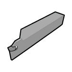 Self Grip (T Cut) Blade for Plunging, Integrated Holder, for Automatic Lathe, General Purpose Type