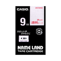 Name Land Tape 9 mm Clear Red Text