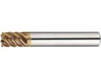 TSC Series Carbide High-helical End Mill (for Shrink Fit Holder/Cutting Edge Deflection Accuracy of 5μm or Less), Multi-flute, 53° Spiral/Stub Model