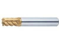 TSC Series Carbide High-helical End Mill for High-hardness Steel Machining, Multi-blade, 50° Spiral/Stub Model