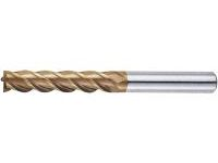 AS Coated High-Speed Steel Square End Mill, 4-Flute/Long