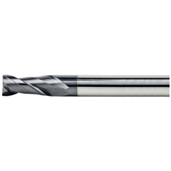 V Series Carbide Square End Mill, 2 Flutes