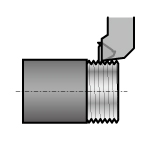 Cross-Thread 266 Thread Cutting Shank Bit