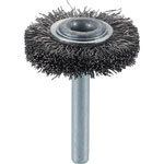 Wheel Brush with Shaft (for Motorized Use/Shaft Diameter 6 mm/Round Shaft Type) (Stainless Steel)