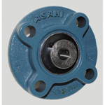 Round Flanged Unit with Spigot Joint, Cylindrical Hole with Set Screw, UCFC Type