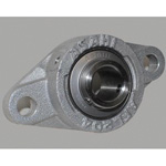 Diamond Flanged Unit, Aluminum Series, Cylindrical Hole Shape with Set Screw, MUCAFL Type