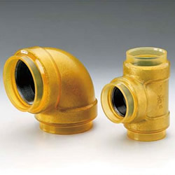 20 K Transparent Fittings with Insulation for HB Gold (HBG) Fire Extinguishing Pipes - Elbow with Different Diameters