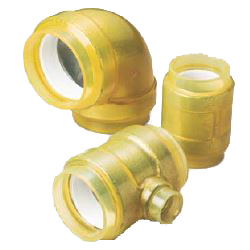 Pre-Seal HB Gold Underground Type (Exterior Transparent Coating for Fire Extinguishing Pipes) Reducer Elbow