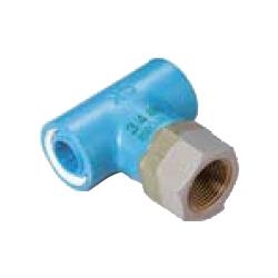 Pre-Sealed Core Fittings, Insulating Type, for Appliance Connection (Dissimilar Metals Contact Prevention-Type Fittings) Z Series, Female Adapter ZF, Tee