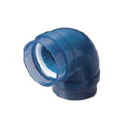 Pre-Seal Core Transparent PC Core Fitting Normal Type TPC Series Reducer Elbow for Connection of Lining Steel Pipes P-TPC-RL-32X20